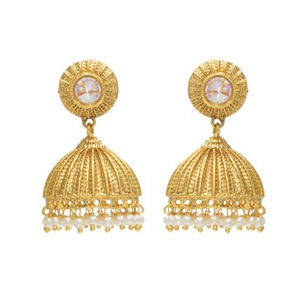 12319 Antique Jhumki with gold plating