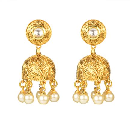 12328 Antique Jhumki with gold plating