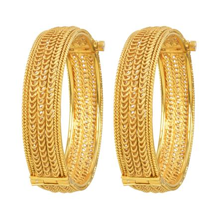 12330 Antique Plain Gold Bangles