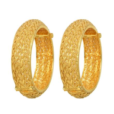 12331 Antique Openable Bangles with gold plating