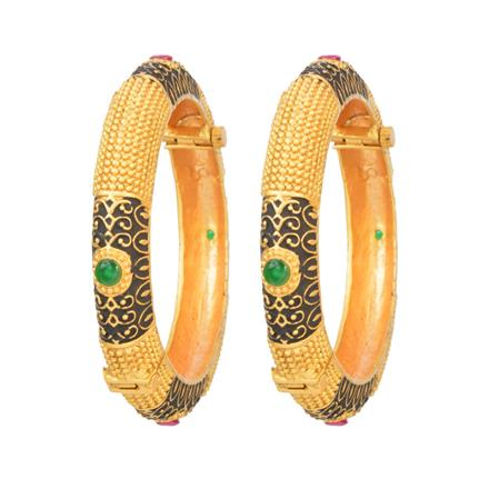 12333 Antique Openable Bangles with gold plating