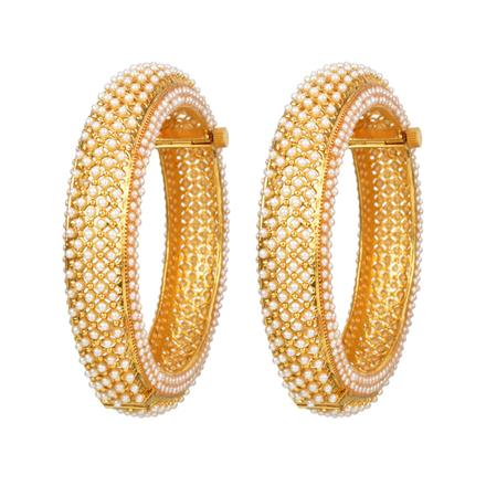 12334 Antique Openable Bangles with gold plating