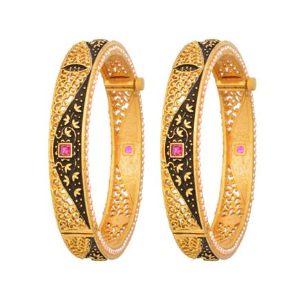 12335 Antique Openable Bangles with gold plating