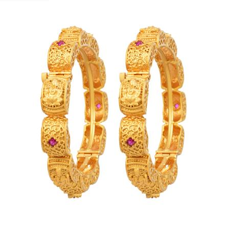 12336 Antique Temple Bangles with gold plating