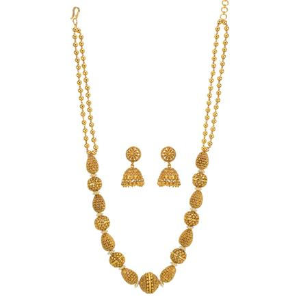 12337 Antique Mala Necklace with gold plating