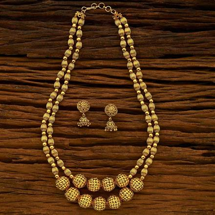 12338 Antique Mala Necklace with gold plating