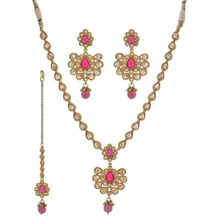 12353 Antique Classic Necklace with mehndi plating