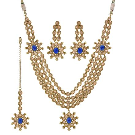 12354 Antique Classic Necklace with mehndi plating