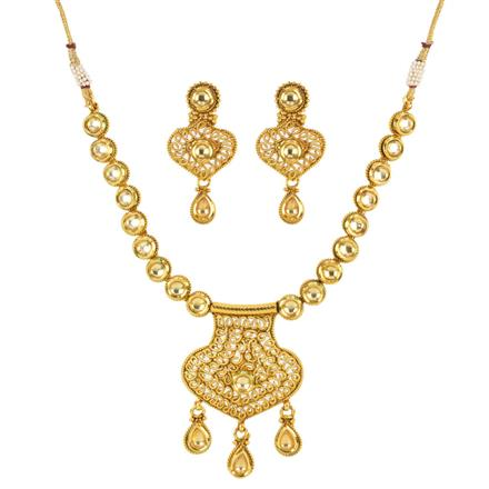 12363 Antique Classic Necklace with gold plating