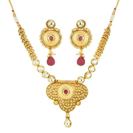 12364 Antique Classic Necklace with gold plating