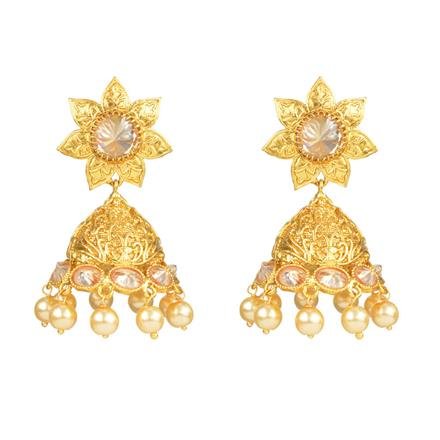 12366 Antique Jhumki with gold plating