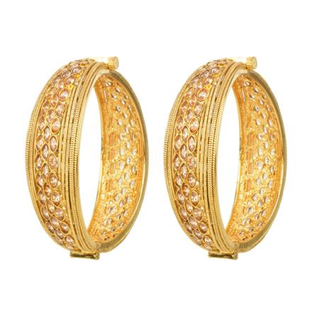 12370 Antique Openable Bangles with gold plating