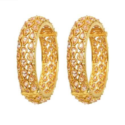 12371 Antique Openable Bangles with gold plating