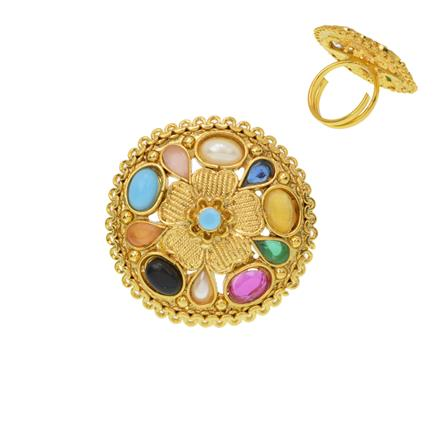 12372 Antique Classic Ring with gold plating