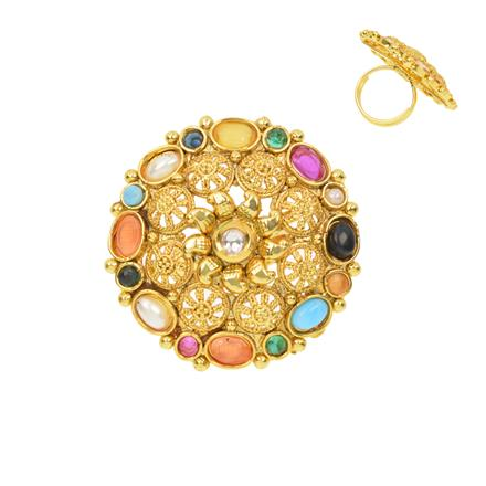 12373 Antique Classic Ring with gold plating