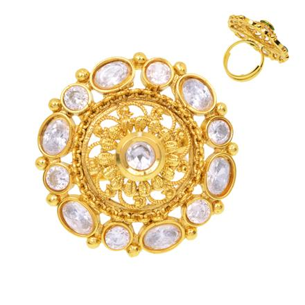 12375 Antique Classic Ring with gold plating
