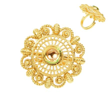 12376 Antique Classic Ring with gold plating