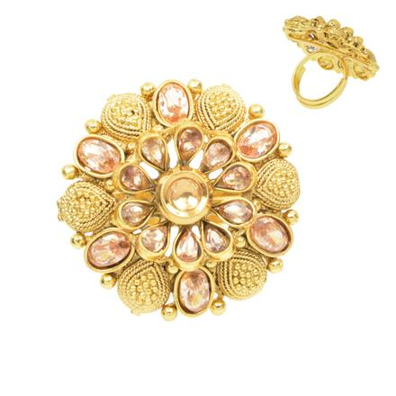 12377 Antique Classic Ring with gold plating