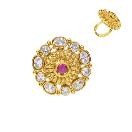 12379 Antique Classic Ring with gold plating