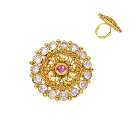 12380 Antique Classic Ring with gold plating