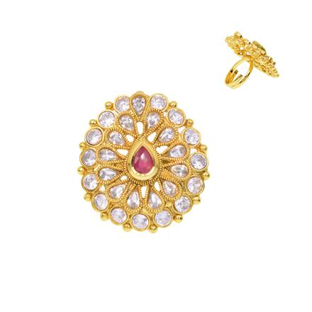 12381 Antique Classic Ring with gold plating