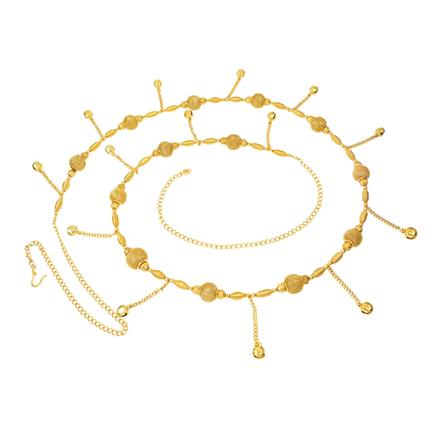 12390 Antique Delicate Belt with gold plating