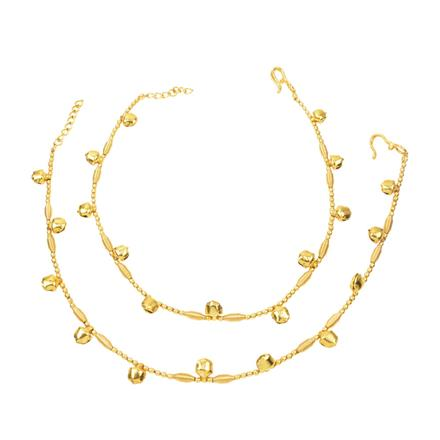 12397 Antique Ghungru Payal with gold plating