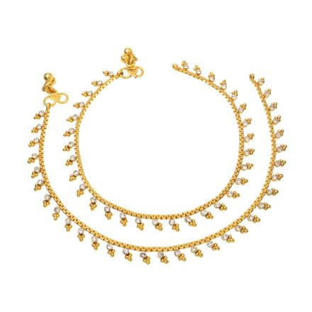 12400 Antique Delicate Payal with gold plating