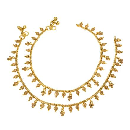 12405 Antique Delicate Payal with gold plating