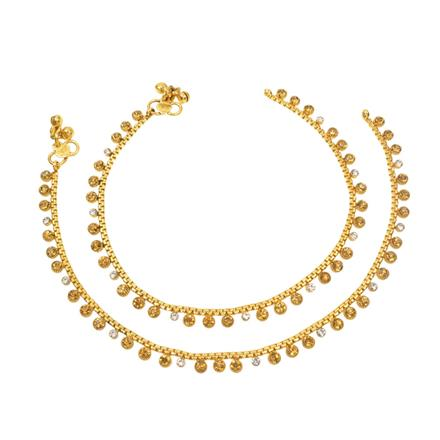 12408 Antique Delicate Payal with gold plating