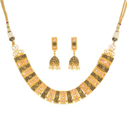 12417 Antique Classic Necklace with gold plating