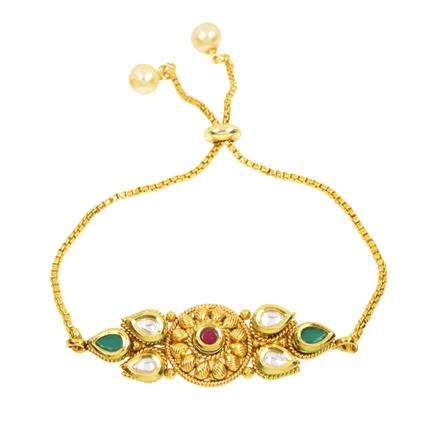 12427 Antique Delicate Bracelet with gold plating