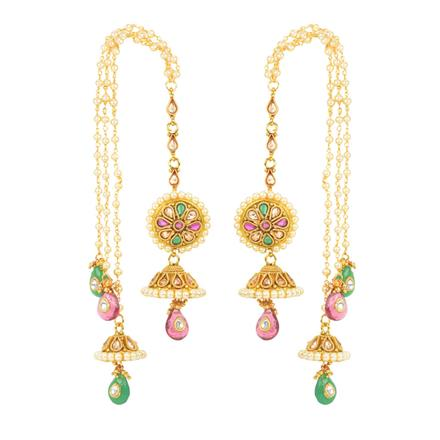 12430 Antique Long Earring with gold plating