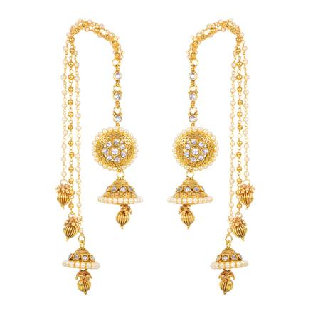 12431 Antique Long Earring with gold plating