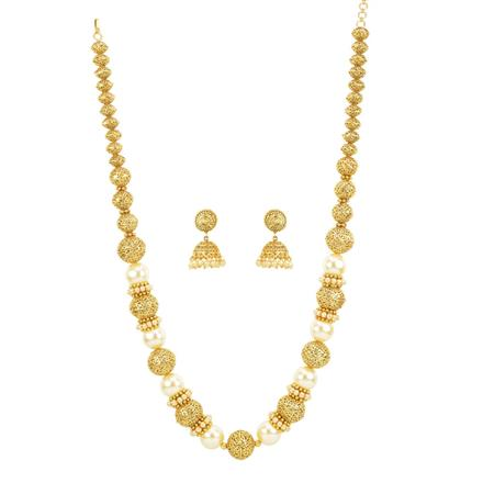 12440 Antique Long Necklace with gold plating