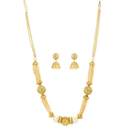 12441 Antique Mala Necklace with gold plating