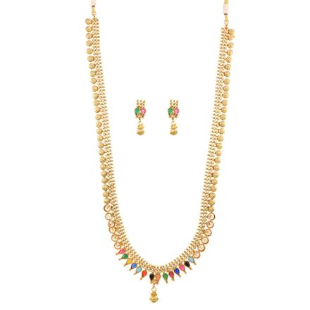 12442 Antique Long Necklace with gold plating
