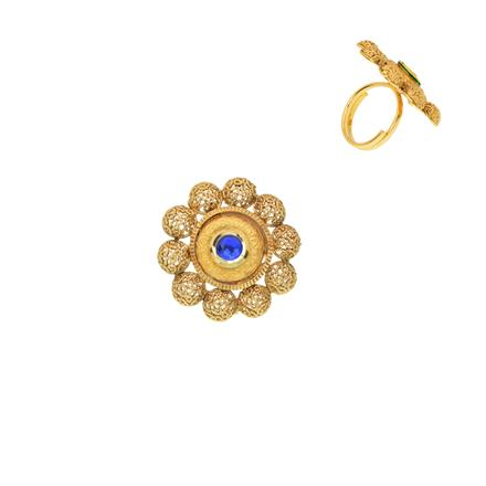 12443 Antique Classic Ring with gold plating