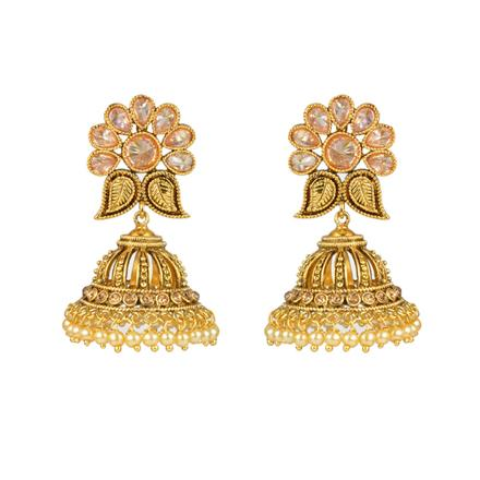 12457 Antique Jhumki with gold plating