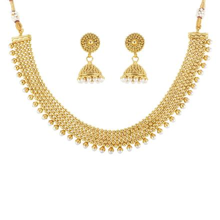 12458 Antique Delicate Necklace with gold plating