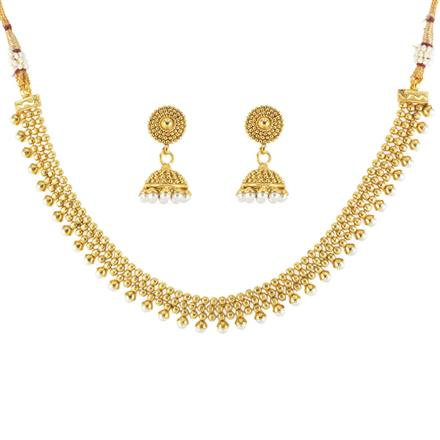 12459 Antique Delicate Necklace with gold plating