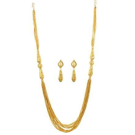 12462 Antique Long Necklace with gold plating