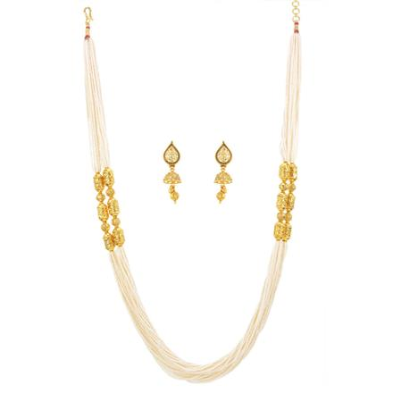 12463 Antique Mala Necklace with gold plating