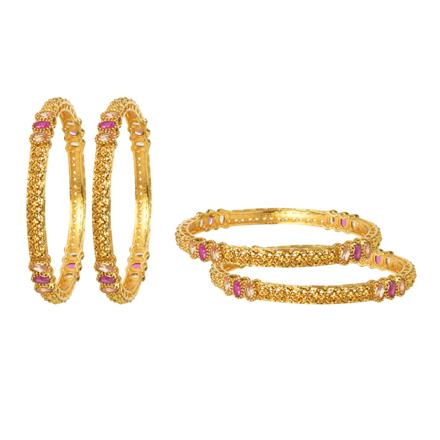 12464 Antique Classic Bangles with gold plating