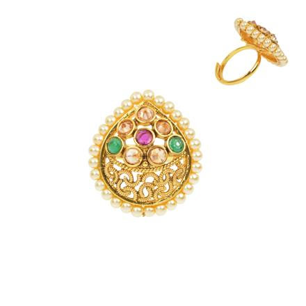 12474 Antique Classic Ring with gold plating