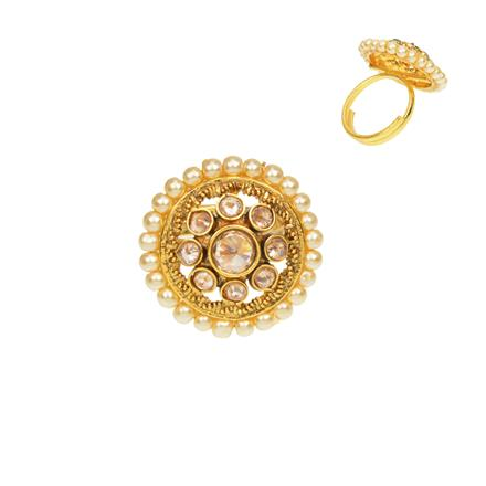 12475 Antique Classic Ring with gold plating