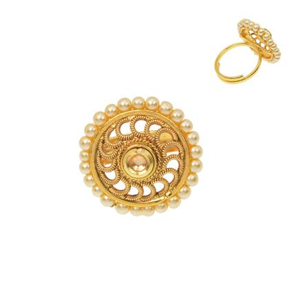 12476 Antique Classic Ring with gold plating