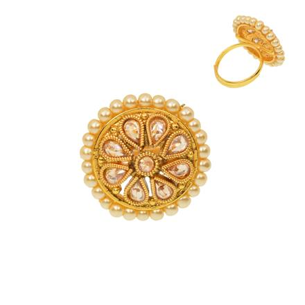 12477 Antique Classic Ring with gold plating