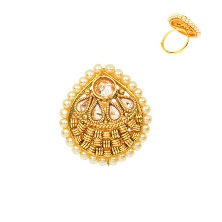 12478 Antique Classic Ring with gold plating