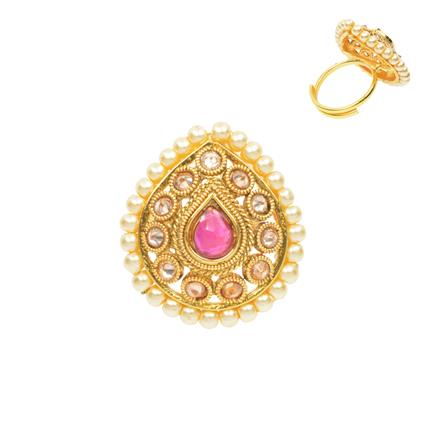 12479 Antique Classic Ring with gold plating
